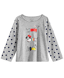 First Impressions Baby Girls Dog Graphic T-Shirt, Created for Macy's