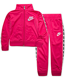 Nike Toddler Girls 2-Pc. Tricot Track Jacket & Pants Set