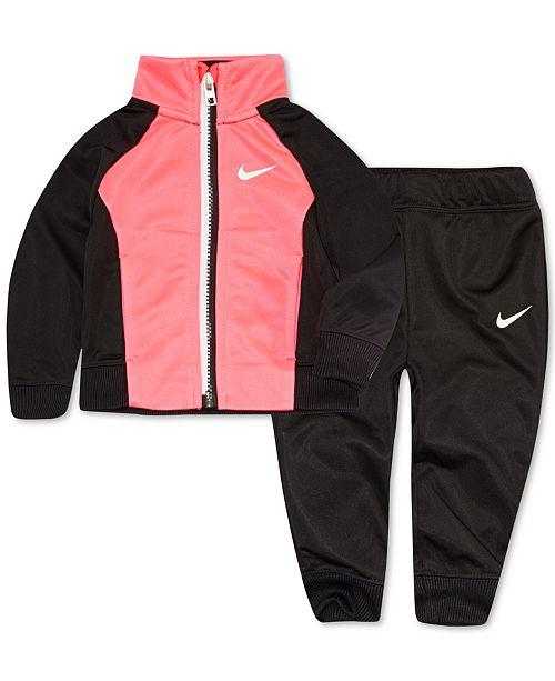 f0bf26c4af Nike Toddler Girls 2-Pc. Colorblocked Track Jacket & Pants Set ...