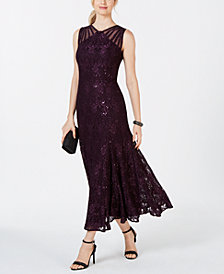 R & M Richards Long Sequin Gown
