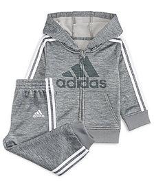 adidas Baby Boys 2-Pc. Fleece Hoodie & Jogger Pants Set