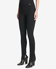 Calvin Klein Pinstriped Pull-On Pants