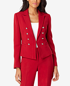Tahari ASL Faux-Double-Breasted Blazer
