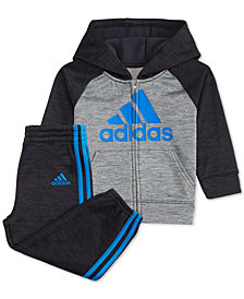 adidas Litte Boys 2-Pc. Front-Zip Jacket & Jogger Pants Set