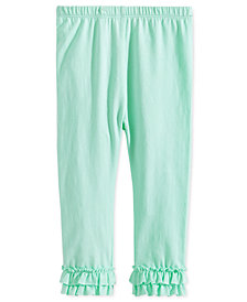 First Impressions Baby Girls Ruffled-Hem Leggings, Created for Macy's