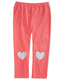 First Impressions Toddler Girls Dot-Print Heart Leggings, Created for Macy's