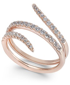 Diamond Wrap Statement Ring (1/2 ct. t.w.) in 14k Rose Gold