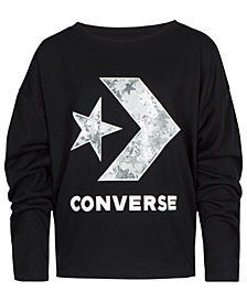 Converse Big Girls Logo-Print Oversized T-Shirt
