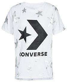 Converse Big Girls Star-Print Logo Cotton T-Shirt