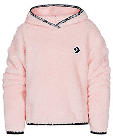 Converse Big Girls Cropped Sherpa Hoodie