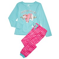 Max & Olivia Big Girls 2-Pc. Snow Daze Pajama Set