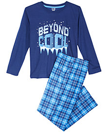 Max & Olivia Little & Big Boys 2-Pc. Beyond Cool Pajamas Set