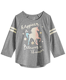 Max & Olivia Big Girls Unicorn Graphic Pajama Top, Created for Macy's
