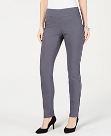 Petite Tummy-Control Pull-On Skinny Pants, Created for Macy's