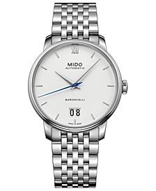 Men's Swiss Automatic Baroncelli III Stainless Steel Bracelet Watch 40mm