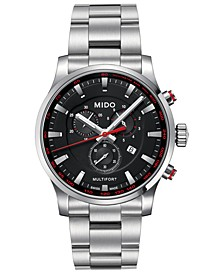 Men's Swiss Chronograph Multifort Stainless Steel Bracelet Watch 42mm