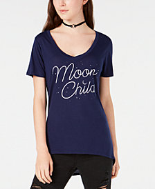 Jerry Leigh Juniors' Moon Child Graphic T-Shirt