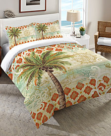 Laural Home Spice Palm Queen Comforter