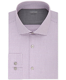 Calvin Klein X Men's Extra-Slim Fit Temperature Regulating Stretch Pattern Dress Shirt