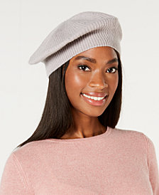 Charter Club Rhinestone Cashmere Beret, Created for Macy's