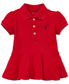 Polo Ralph Lauren Baby Girls Pleated Cotton Polo Shirt