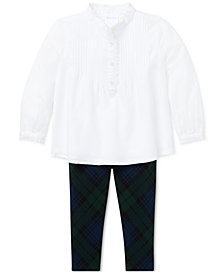 Polo Ralph Lauren Baby Girls Cotton Top & Leggings Set