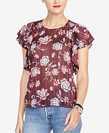 RACHEL Rachel Roy Flutter-Sleeve Top, Created for Macy's