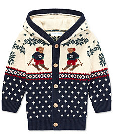 Polo Ralph Lauren Baby Boys 3M Ski Bear Cardigan