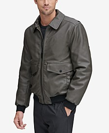 Men's Faux-Leather Jacket