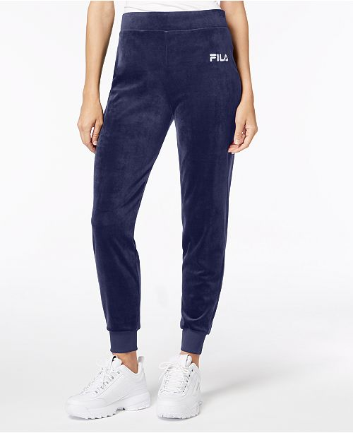 innovative design detailed look in stock Fila Velour Joggers & Reviews - Pants & Leggings - Women - Macy's
