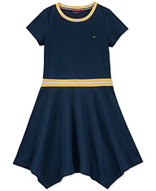 Tommy Hilfiger Big Girls Handkerchief-Hem Dress