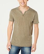 3b08dac3 Lucky Brand Men's Burnout Button Notch Short Sleeve Tshirt