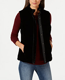 Charter Club Velvet Puffer Vest, Created for Macy's