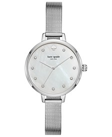 Women's Metro Stainless Steel Mesh Bracelet Watch 34mm