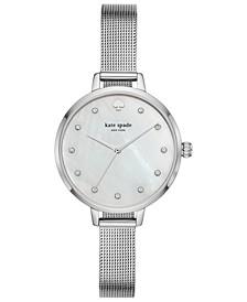 Women's Metro Stainless Steel Mesh Bracelet Watch 34mm