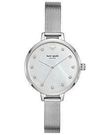 kate spade new york Women's Metro Stainless Steel Mesh Bracelet Watch 34mm