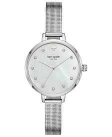 kate spade new york Women's Metro Stainless Steel Mesh Bracelet Watch 34mm