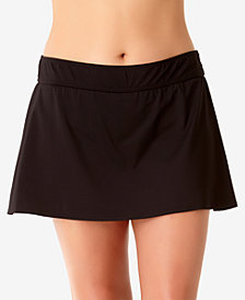 Anne Cole Plus Size Basic Swim Skirt