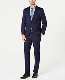 Men's Slim-Fit TH Flex Stretch Navy Solid Suit