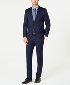 Tommy Hilfiger Men's Modern-Fit TH Flex Stretch Navy Solid Suit
