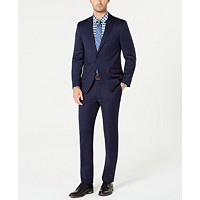 Deals on Tommy Hilfiger Men's Modern-Fit TH Flex Stretch Navy Solid Suit