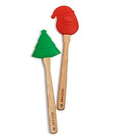Art & Cook Santa & Tree Wood Spatulas, Set of 2