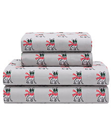 Xmas Caravan Queen 90 Gsm Sheet Set, Flat Sheet 90X104, Fitted Sheet 60X80X14, 21X31 2 Pc