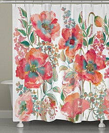 Bohemian Popp Shower Curtain