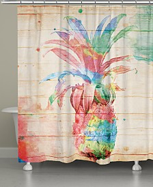 Colorful Pineapple Shower Curtain