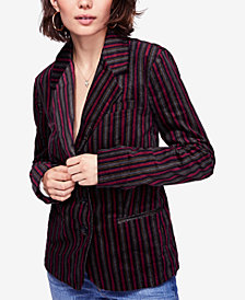 Free People B-Line Striped Blazer