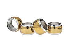 Godinger Brass Hammered Napkin Rings, Set of 4