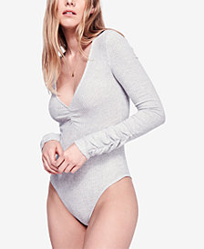 Free People Cozy Up With Me Ruched Bodysuit