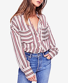 Free People Mad About You Striped Shirt