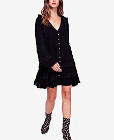 Free People Snow Angel Ruffled Dress